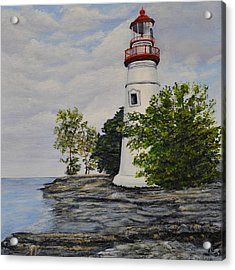 Marblehead Light House On Lake Erie Acrylic Print