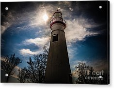 Marblehead Lighthouse Acrylic Print by Lori England Zornes