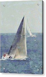 Marblehead To Halifax Ocean Race Acrylic Print by Jeff Folger