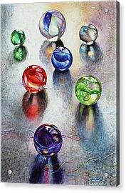 Marbles 1 Acrylic Print