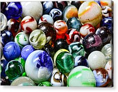 Marbles All That Color Acrylic Print by Paul Ward