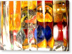 Acrylic Print featuring the photograph Marbles In A Glass Bowl by Mary Bedy