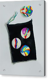 Marbles Acrylic Print by Jean Cormier