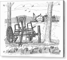 Marbletown Farm Equipment Acrylic Print