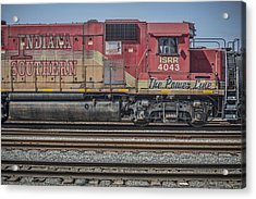 March 11. 2015 - Indiana Southern Railway Engine 4043 Acrylic Print by Jim Pearson