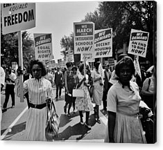 March For Equality Acrylic Print by Benjamin Yeager
