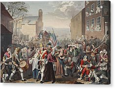 March Of The Guards To Finchley Acrylic Print by William Hogarth