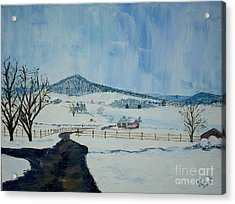March Snow On Mole Hill - Sold Acrylic Print by Judith Espinoza