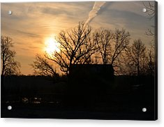 March Sunrise1 Acrylic Print by Jennifer  King