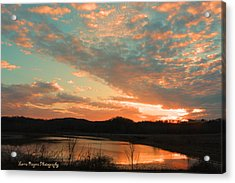 March Sunset With Signature Acrylic Print