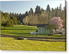 March Sunset Roaring Camp Acrylic Print by Larry Darnell