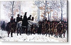 March To Valley Forge  Acrylic Print by Pg Reproductions