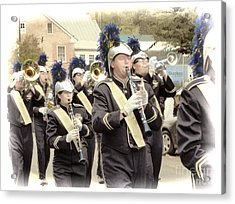 Marching Band - Shepherd University Ram Band At Homecoming 2012 Acrylic Print