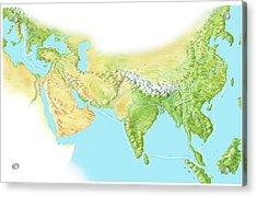 Marco Polo's Route Acrylic Print by Gary Hincks
