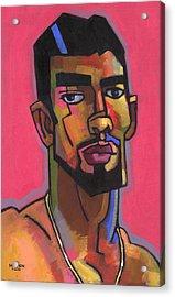 Marco With Gold Chain Acrylic Print by Douglas Simonson