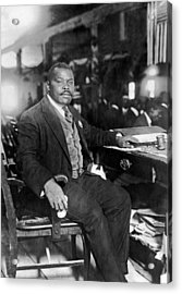 Marcus Garvey At His Desk Acrylic Print by Underwood Archives