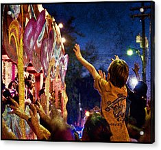 Mardi Gras At Night Acrylic Print