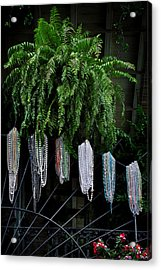 Mardi Gras Beads New Orleans Acrylic Print by Christine Till