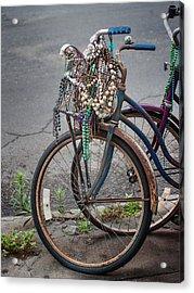 Mardi Gras Bicycle Acrylic Print by Brenda Bryant