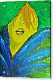 Mardi Gras Blues Acrylic Print by Krystyn Lyon