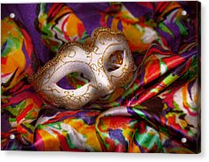 Mardi Gras - Celebrating Mardi Gras  Acrylic Print by Mike Savad