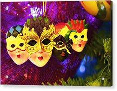 Mardi Gras Christmas Acrylic Print