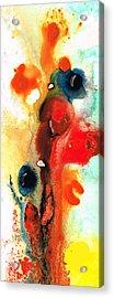 Mardi Gras - Colorful Abstract Art By Sharon Cummings Acrylic Print