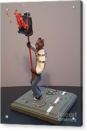 Mardi Gras Flambeau Acrylic Print by Katie Spicuzza
