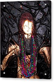 Mardi Gras Girl Finished Acrylic Print