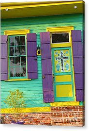 Acrylic Print featuring the photograph Mardi Gras House by Jeanne  Woods