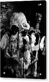 Mardi Gras Indians At The Gold Mine Saloon In New Orleans Acrylic Print