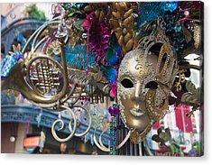 Mardi Gras Mask Acrylic Print by Heidi Smith