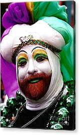 Acrylic Print featuring the photograph Mardi Gras New Orleans La by Michael Hoard
