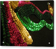 Acrylic Print featuring the photograph Mardi Gras Time by Beth Vincent