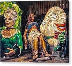 Mardi Gras World - Humpty Dumpty And Showgirls Acrylic Print by Gregory Dyer