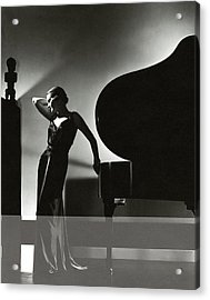 Margaret Horan Posing Beside A Piano Acrylic Print