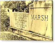 Margaret Mitchell Grave Acrylic Print