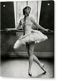 Margaret Petit At The Barre Acrylic Print by Nicholas Muray