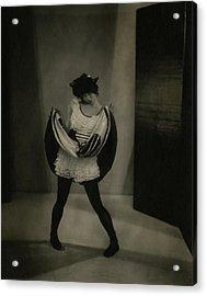 Margaret Severn Pulling Up Her Skirt Acrylic Print