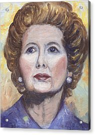 Margaret Thatcher Two Acrylic Print by Linda Mears