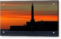 Margate Pier Sunset Acrylic Print