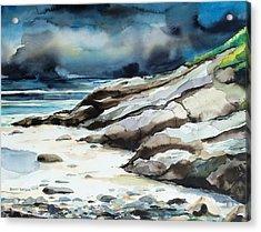 Marginal Way Storm Acrylic Print by Scott Nelson