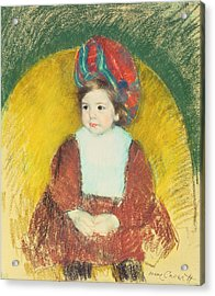 Margot Acrylic Print by Mary Stevenson Cassatt