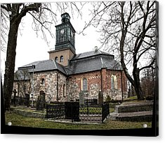 Acrylic Print featuring the photograph Maria Church Enkoeping From South Leif Sohlman by Leif Sohlman