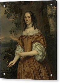 Maria De Witte Françoisdr, B 1616, Wife Of Johan Van Acrylic Print