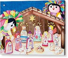 Maria Sofia And The Nativity Acrylic Print
