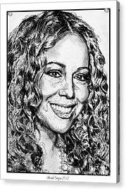 Mariah Carey In 2012 Acrylic Print by J McCombie