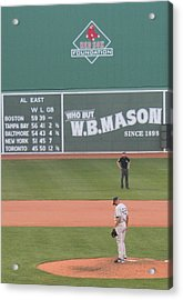 Mariano On The Mound Acrylic Print by Stephen Melcher
