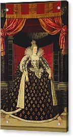 Marie De Medici 1573-1642 In Coronation Robes, C.1610 Oil On Canvas Acrylic Print