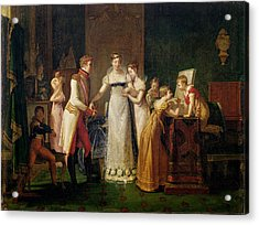 Marie-louise Of Austria Bidding Farewell To Her Family In Vienna Acrylic Print by Pauline Auzou
